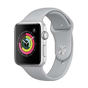 Apple Watch Series 3 智能手表 38mm GPS 银色铝金属表壳 云雾灰色运动型表带 MQKU2CH/A