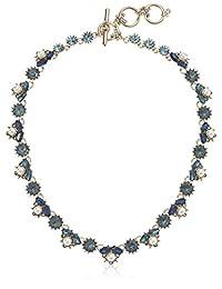 Marchesa 女式 40.64 厘米领项链 蓝色 均码