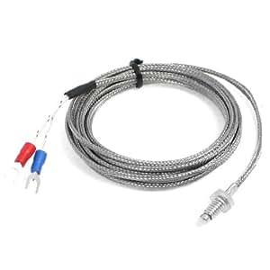 """118"""" 长 6mm 螺丝直径 Thermocouple K 型温度传感器 0-400C"""