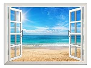 """壁画,可移除贴纸,家居装饰品 沙滩 36""""x48"""" FBA_WMR2-089-36x48"""