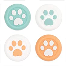 GeekShare Cat Paw Xbox One 控制器拇指握把,拇指套套装兼容 Xbox One 控制器,2 对 / 4 件 - 橙色和*