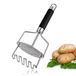 Joyoldelf 重型不锈钢土豆捣碎器 Dual-Press