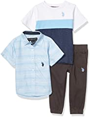 U.S. Polo Assn. 男童裤子套装