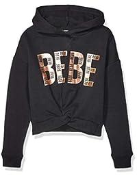 bebe 女童 Big Black Logo 套头衫