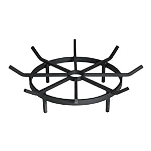 Wagon Wheel Firewood Grate for Fire Pit 24-Inch Diameter