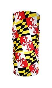 马里兰州旗管状围巾 - 马里兰兰兰兰大队面罩 - MD