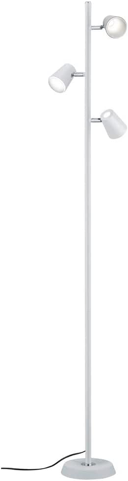 Trio Leuchten 573190107 台灯,镍亚光/铬 白色 18.0 x 28.0 x 154.0 cm 473190331 Narcos