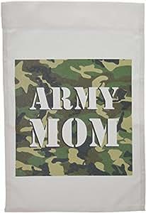 Janna Salak Designs 爱国主义 - Army Mom 绿色迷彩 - 旗帜 12 x 18 inch Garden Flag fl_15405_1