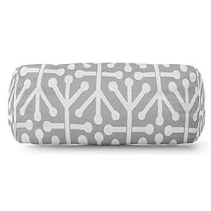 Majestic Home Goods Aruba Round Bolster Pillow, Gray