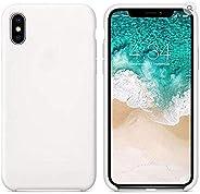 苹果认证、iPhone Xs、iPhone XR、iPhone Xs Max 超薄防滑耐用减震凝胶橡胶硅胶手机壳 XS Max 白色
