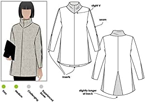 风格弧形缝纫图案 - Mavis 针织束腰上衣 Sizes 18-30