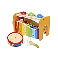 Hape Pound, Tap, & Shake! 儿童声效与颜色开发玩具