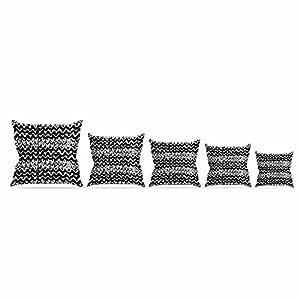 "Kess InHouse MaJoBV""指比例""黑色白色抱枕,40.64 x 40.64 厘米 20 by 20"" MB3017APW04"