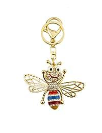 Knighthood Bee 带宝石细节手提包魅力钥匙链/钱包饰品女式(合金)