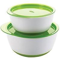 【自营】美国 OXO 奥秀 盖碗套装(绿色) (小碗容量150ml,大碗250ml) 适合6个月以上宝宝(不含BPA,邻苯二甲酸酯和PVC)