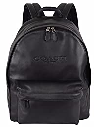 Coach F54786 黑色皮革校园帆布背包