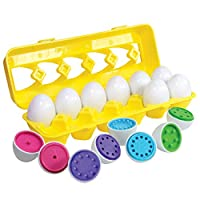 Color Matching Egg Set - Toddler Toys - Educational Color & Number Recognition Skills Learning Toy