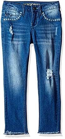 Vigoss Girls' Big Fashion Jean, Mazarine, 12