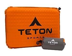 TETON Sports ComfortLite 自充气座椅靠垫和储物袋;*坐在硬座上;重量轻、便携式垫;把它放在包里,随身携带;观看游戏时舒适无忧