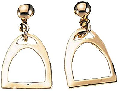 Exselle Gold Plate Smooth Stirrup Earrings