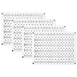 Pegboard Wall Organizer 瓷砖 - 墙壁控制模块化金属钉板瓷砖套装 - 四个 12 英寸高 x 16 英寸宽的木栓板板墙纸存储瓷砖 - 易于安装 白色 PEG-BOARD-1264 W