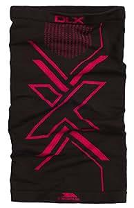 Trespass DLX 阻挡板,黑色,颈部管/多功能头饰,可用作帽子、头带、围巾、帽子、发带、头盔保护、海盗风格等女士,黑色