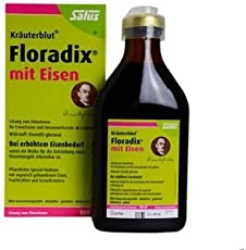 Salus floradix 德国铁元草本营养液绿色版500ml(德国品牌)包税包邮