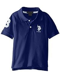 U.S. Polo Assn. 男童纯色短袖 Polo 衫