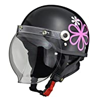 LEAD領先工業 摩托車頭盔 露臉式 CROSS 帶防護罩半頭盔 均碼(57-60cm以下) CR-760 FREE (頭囲 57cm~60cm未満) -