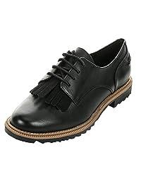Clarks 女 平底鞋Griffin Mabel 261010994(亚马逊自营商品, 由供应商配送)