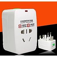 Moonyland 出国旅行 全球通国际插头转换器充电器转换头多功能通用转换插座 电源转换器 通用(2个装)