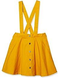 [马赛威斯] 前开式设计 斜纹布 带背带裙 女孩 7212C 共3种图案