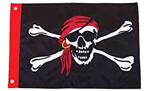 In the Breeze I'm a Jolly Roger 贴花花边船旗,30.48 x 45.72 cm