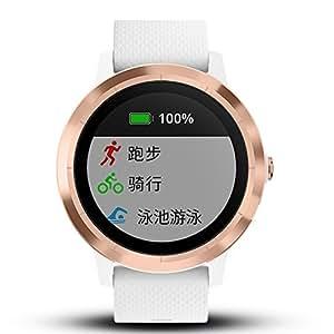 GARMIN 佳明 vivoactive3 玫瑰金 光电心率GPS双星跑步骑行游泳运动触屏腕表 健康监测智能通知在线支付时尚情侣手表(表盘尺寸1.2'')