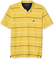 Nautica 诺帝卡 男式经典修身短袖 * 纯棉珠地布条纹 Polo 衫