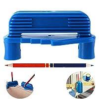 JAYAN 2 件套中心取景器,标记工具,中心线标记工具,标记工具,中心标记工具,适用于标准木制铅笔(中心取景器 + 木工铅笔)