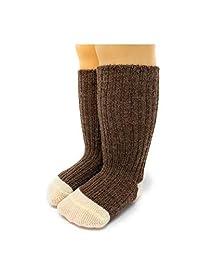 Warrior 羊驼袜 - 婴儿和学步短袜由天然的 Baby Alpaca 羊毛制成,不含染料,温度调节