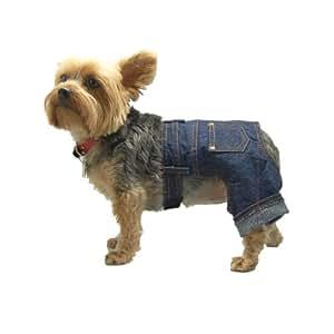 Anima Denim Jeans, Adjustable Waist for Chihuahua, Miniature Doberman, Puppies XX-S