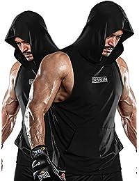 DRSKIN 男式 2~3 件装干式 Y 型背带健身肌肉背心网眼无袖上衣健身训练凉爽干燥运动锻炼