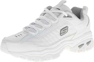 Skechers Sport 男式 Energy Afterburn 系带运动鞋 白色 6.5 XW US