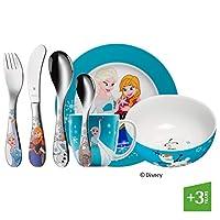 WMF 福騰寶 1286009974 兒童餐具7件套,迪士尼冰雪奇緣圖案,18/10鋼,彩色