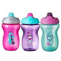 Tommee Tippee 婴幼儿学饮杯,女孩 - 12 个月以上,10 盎司,3 女孩