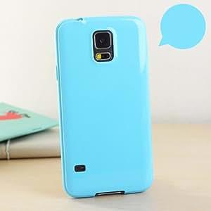 Galaxy Note 5 果冻手机壳,ANLEY Candy Fusion 系列 - [修身款] 经典果冻硅胶手机壳软壳适用于三星 Galaxy Note5 + 免费超清屏幕保护膜 天蓝色