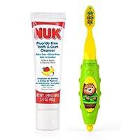 NUK 幼儿牙齿牙龈清洁套装 1.4盎司(颜色可能会有所不同)