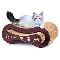 URPRO 猫爬架,2 合 1 猫爬架纸板,猫沙发,猫咪刮擦垫,猫咪家具,猫咪床,猫抓柱
