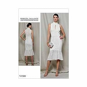 Vogue Patterns V1588E50 女式连衣裙 橙色 14-16-18-20-22 V1588E50