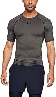 Under Armour 安德瑪 HeatGear 男式短袖衫 男式高級面料緊身健身上衣