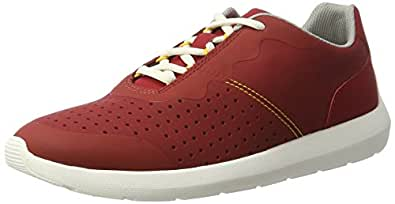 Clarks Men's Torset Vibe Low-Top Sneakers Red 7 UK