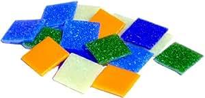 Mosaic Mercantile Color Family Glass Tile, Belize, 1-Pound