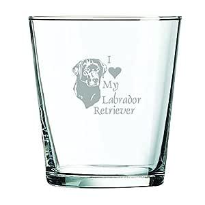 13盎司(约311.4克)。 Rocks Glass -I love my Labrador Retriever